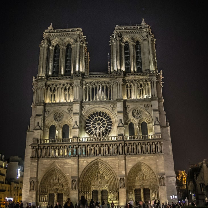 Hours After a Fire Destroyed Part of Notre Dame Cathedral, French President Emmanuel Macron Vows to Have it Rebuilt Within Five Years Image